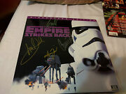 Star Wars Empire Strike Back Signed Lp Cover Signed By Ford Hamill Fisher Rare