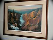 Signed Limited Edition Charles H. Pabst Lithograph Yellowstone Framed 39x29+