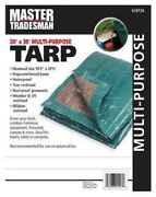 3 Master Tradesman Kt-mt2030gb 20and039x30and039 Green Brown Poly Tarp Cover