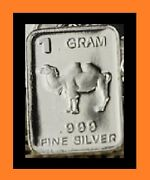 New 1 Gram 0.999 Pure Silver Bar - Watson Mint - The Camel - Local Pickup Only.
