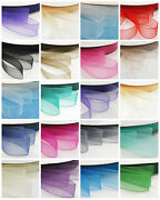 6mm - 38mm Woven Edged Organza Ribbon 21 Colours 8 Sizes Wedding Invite Crafts