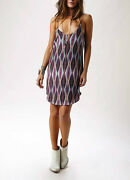 Rory Beca Sonic Keyhole Tunic Dress 100 Silk Multi Color Size M
