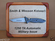 Smith And Wesson Knives 1250 Ta Knife Framed Picture Display Vintage