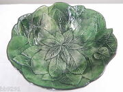 Vintage Italy Green Leaf Bowl 7707
