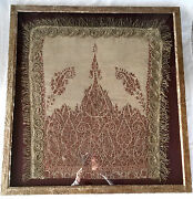 Stunning Antique Persian Textile/tapestry W Silver Metalwork In Custom Frame