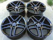 19 New S63 S65 Cl63 S500 S550 S600 Factory Mercedes Amg Black Wheels Tires Tpms