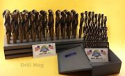 62 Pc Silver And Deming Drill Bit Set 1/16 To 1 Drill Hog Usa Lifetime Warranty