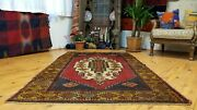 Breathtaking Antique 1900-1939s Tribal Hand-knotted Wool Pile Area Rug 4andrsquo X6andrsquo6andrdquo