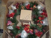 Frontgate Holiday Villa Christmas Tree Garland Floral Door Wreath 36 Red