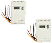 2 Dial 7617 115/230 Volt Lcd Digital Thermostats For Evaporative Swamp Coolers