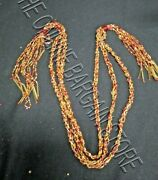 Frontgate Christmas Holiday Set 12 Beaded 33 Swag Ornaments Garland Red Gold