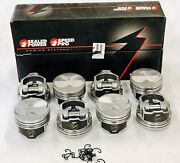 Speed Pro Chevy 350/5.7 Hypereutectic Dome Pistons+file Fit Rings 10.71 040
