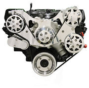Billet Serpentine Front Drive System - Big Block Ford - Polished W/ac And Ps