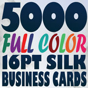5000 Full Color Silk Business Card Prints On 16pt Silk Smooth Laminated Texture
