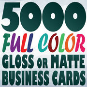 5000 Full Color Custom 14pt Business Card Prints   Gloss Or Matte   Two Sides