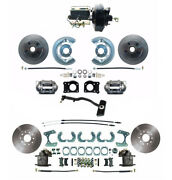 1967-69 Ford Mustang Front And Rear 9 Power Disc Brake Kit And Pedal