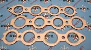 1936-1952 Buick Intake And Exhaust Manifold Gasket Set. 320 Engines. Copper