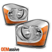Fit 2004-2006 Dodge Durango Clear Replacement Headlights Front Lamps L+r