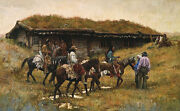 Howard Terpning Trading Post At Chadron Creek Ap S/nw/coa Offer Free S/h