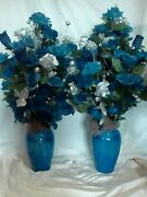 Complete Set Of Royal Blue Table Decorations For A Wedding Or Anniversary Party