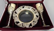 Silver Treasures By Godinger 5 Piece Silver Wine Set With Box Very Very Rare