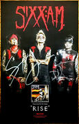 Sixx A.m Prayers For The Damned Signed By All 3 Members Ltd Ed Rare Poster Am