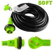 50ft Foot 30a Amp Rv Extension Cord Trailer Motorhome Camper Power Supply Cable