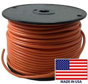 250' Ft Orange 10 Ga. Awg Tinned Copper Marine Primary Wire Boat Usa Made