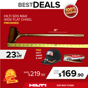 Hilti 19 Sds Max Te-yp-spm Wide Flat Chisel Preowned Free Extras Fast Ship