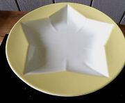 Homer Laughlin Fiesta Colorations Star Shaped Pasta Bowl Sunflower Yellow White