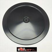 14 Round Black Air Cleaner Lid Muscle Car Style Chevy Ford Mopar 350 400 454