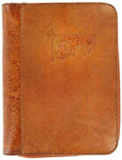 Nocona Brown Leather Cowboy Prayer Embossed Large Bible Cover 0650608
