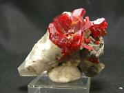 Fantastic Large Realgar On Calcite Cluster From China - 2.6