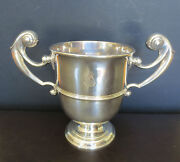 18th Century Irish Sterling Double Handle Trophy Loving Cup Goblet 446.2 Grams
