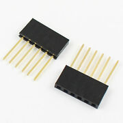 500pcs 2.54mm Pitch 6 Pin Single Row Stackable Shield Female Header For Arduino