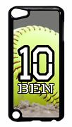 Personalized Number And Name Softball Case For Ipod 4 5 5th Touch Generation