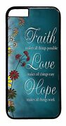 New Cute Faith Love Quote Design For Iphone 6 6s Plus 5 5s 5c 4s Back Case Cover