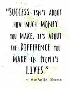 Michelle Obama Quote Decorative Wall Art Print Success Is Not About Money....