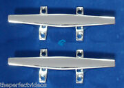2x Chrome 6 Cleat Boat Marine Dock Raft Anchor Line Hq Rope Holder Tie-down