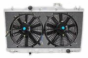 For Acura Rsx Dc5 Type S Base M/t Manual Aluminum 2 Row Radiator W/2x Black Fans