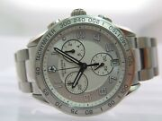 Victorinox Swiss Army Chrono Silver Stainless Steel 241499 40mm Box And Papers