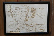 Wooden Middle Earth Map - Laser Engraved Lord Of The Rings Map