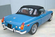 New Black Convertible Top Mgb 1971-80 W Zip Out Window Robbins Brand Made Usa