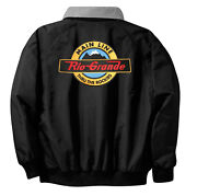 Denver And Rio Grande Main Line Embroidered Jacket Front And Rear [12r]