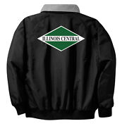 Illinois Central Green Diamond Logo Jackets With Front And Rear Logo [06r]