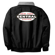 Nyc Cigar Band Logo Embroidered Jacket Front And Rear [62r]