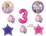 Sofia The First Third 3rd Happy Birthday Party Balloons Decorations Supplies