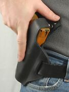 Barsony Black Leather Pancake Holster Walther Pk380 P22