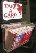 48 Large Outdoor Business Card Holder Realtor Or Cars Adbox Vehicle Take A Card