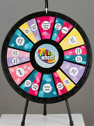 12 - 24 Slot Adaptable Table Top Prize Wheel Game With Case Great For Trade Show